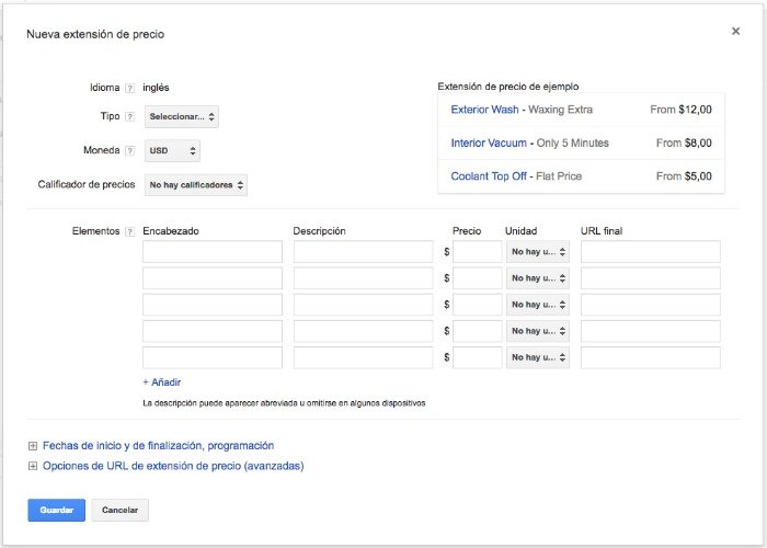 configurar-extension-precio-adwords
