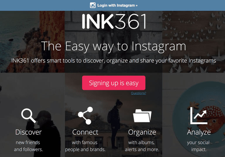INK361 app Instagram